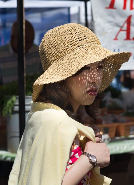 Japanese Tourists at the Kapiolani Farmer's Market - 2
