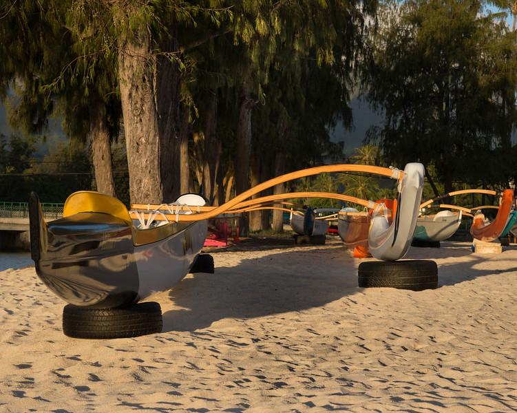 Outrigger Canoe at Kailua Beach Park