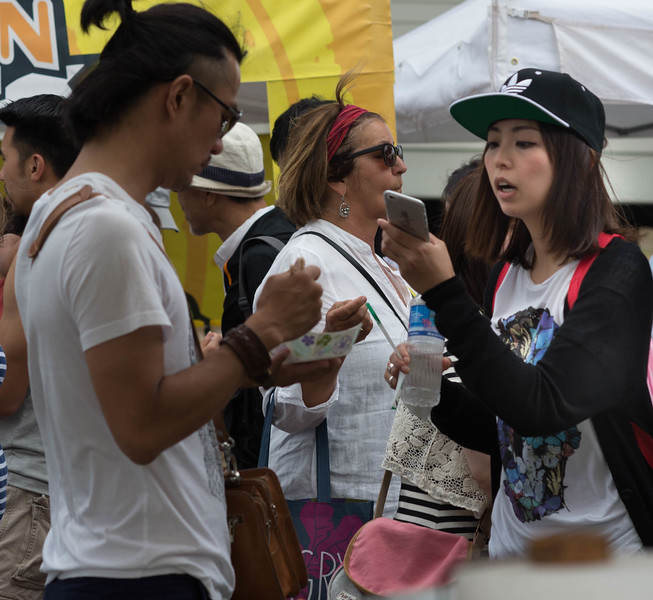 Japanese Tourists at the Kapiolani Farmer's Market - 1