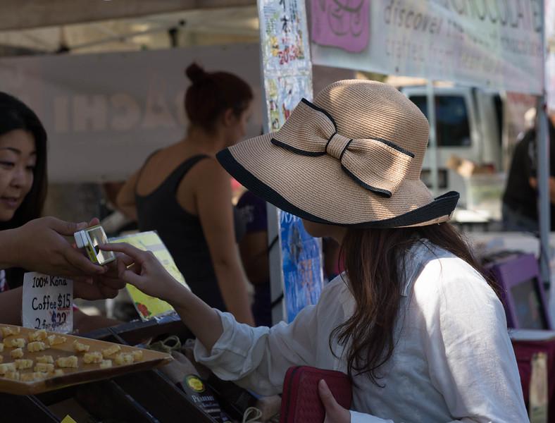 Japanese Tourists at the Kapiolani Farmer's Market - 3