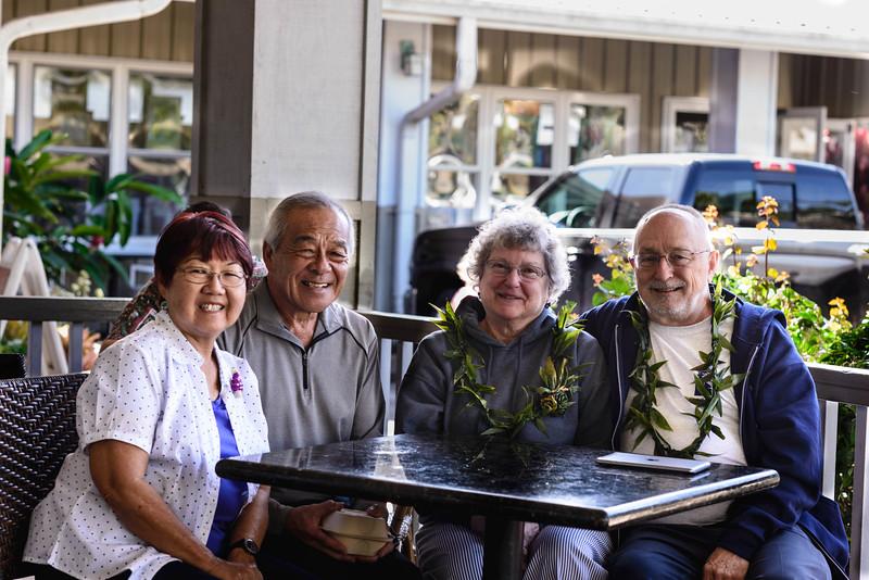 Eilene, Niles, Nancy & Bob in Kalaheo