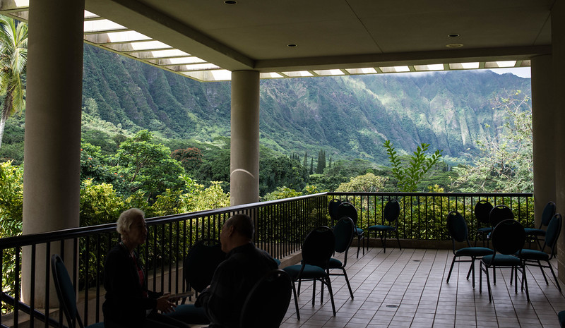The Koolau's Viewed from the Prayer Lanai at Honolulu Pres
