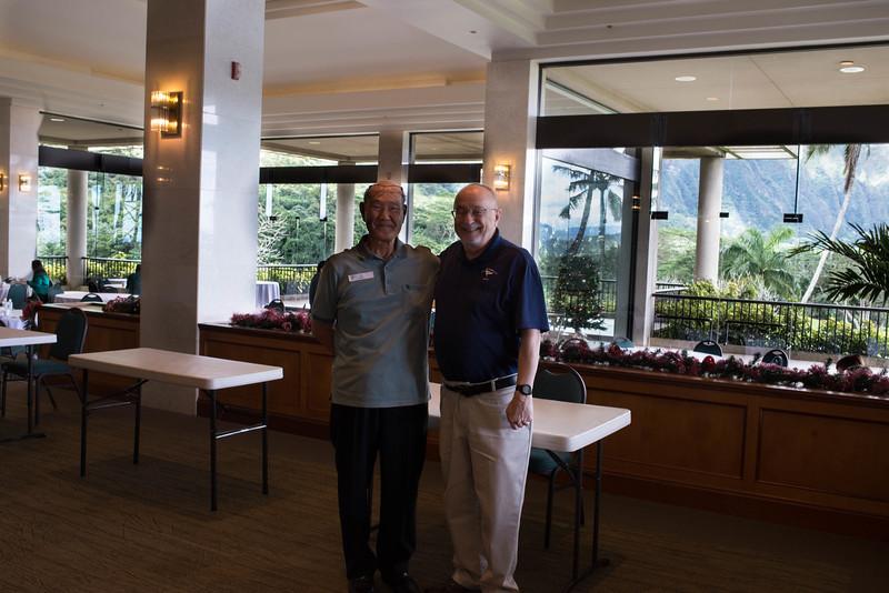 Al & Bob in a Small Corner of Honolulu Pres' Fellowship Hall