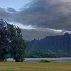 Pali from Waiahole Park at Sunrise