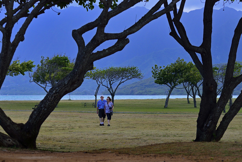 Emmett & Lani at Kualoa Park (She Looks Like Our Mother in This One)