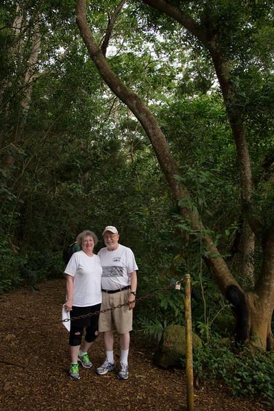 Nancy & Bob at the Trail Head