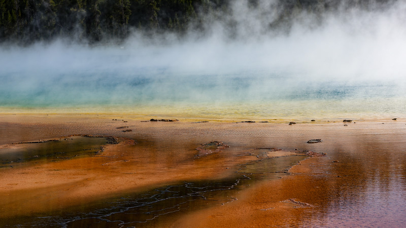 The Grand Prisimatic Spring in Yellowstone
