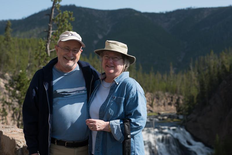 Bob & Nancy at the  Gibbon Falls