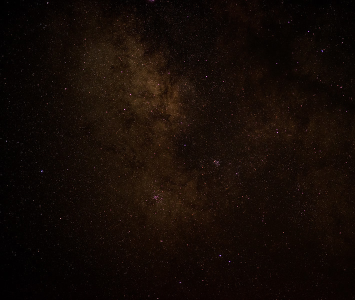 Southern Milky Way With Open Star Clusters M6 & M7