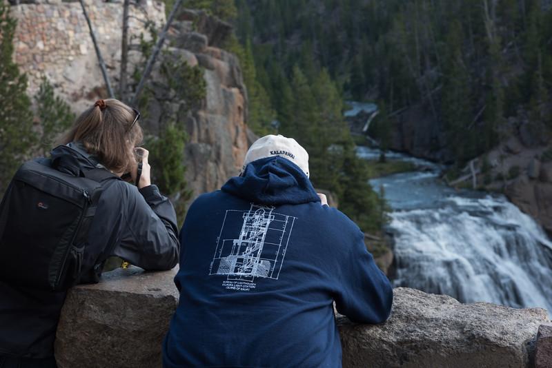 Kimberly & Bob at the  Gibbon Falls