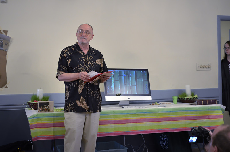 Bob as the Emcee of the Memories Testimony