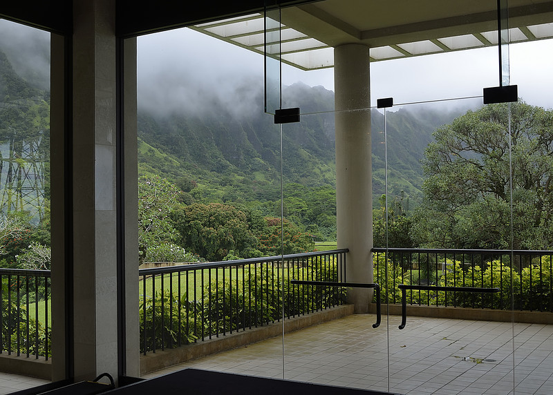 The View from the Fellowship Hall of Honolulu Presbyterian Church (in Kaneohe)