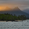 Sunset, Mt Olomana & the Pali from the Makai Research Pier