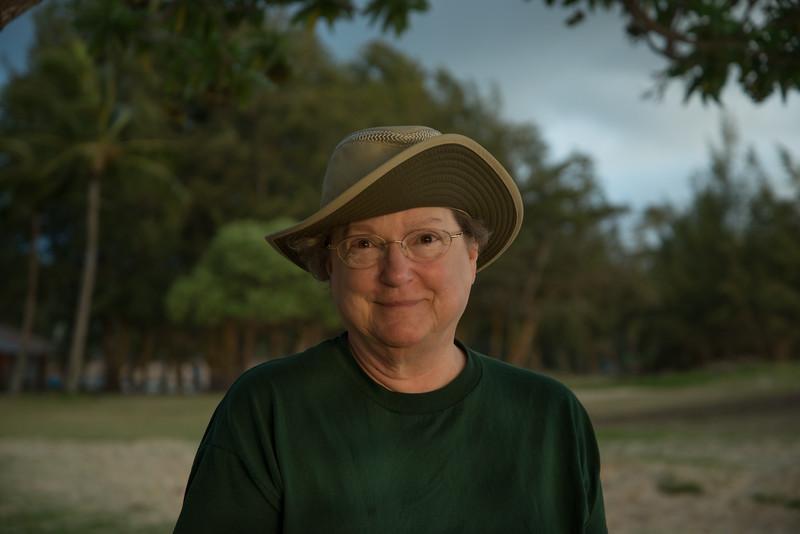 Nancy at Kailua Beach Park
