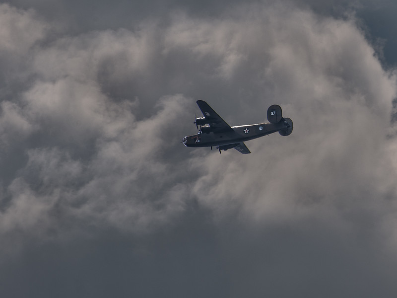 A B-24 in the VE Day 70th Anniversary Flyover of Washington