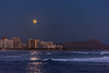 Moonrise Over Waikiki from Kaka'Ako (Two Camera, 3 image HDR)