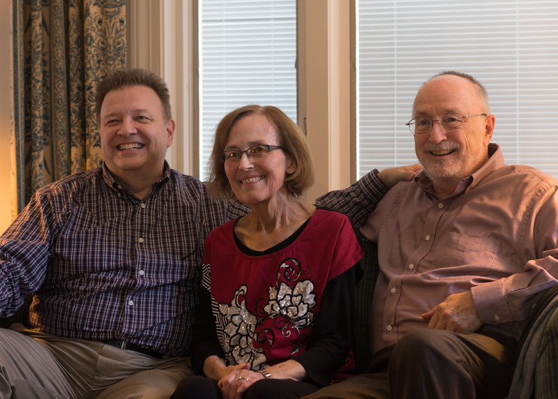 Barry, Lani & Bob at Lani's - November, 2015