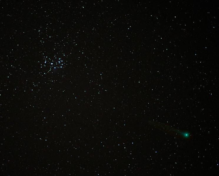 Comet Lovejoy & the Pleiades from Amelia, Virginia