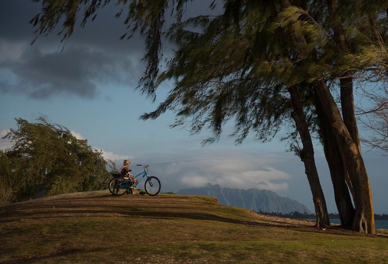A Man, A Bike, A Beach, A View