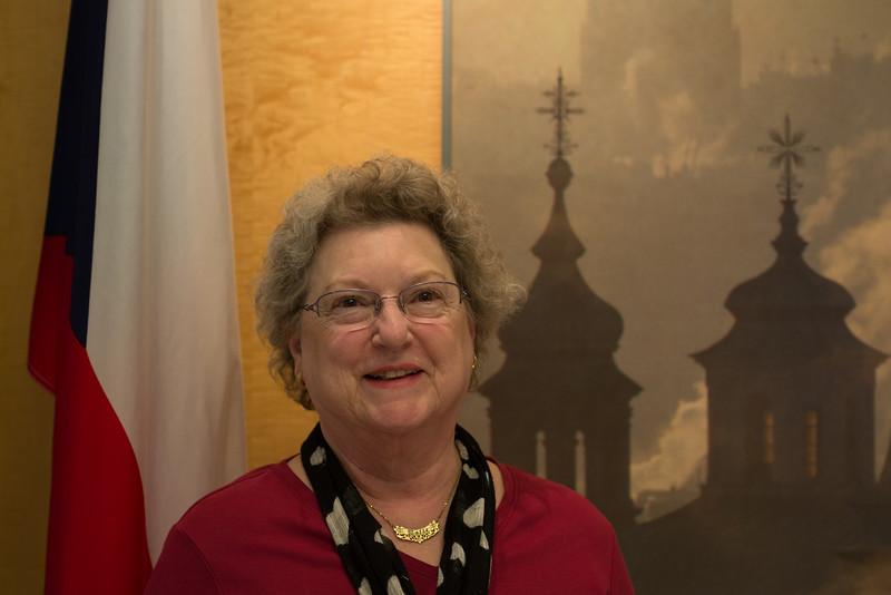 Nancy at the Czech Embassy in Washington, DC