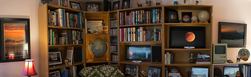 Bob's Man Cave ... A Panorama Made with a New 35 mm Lens