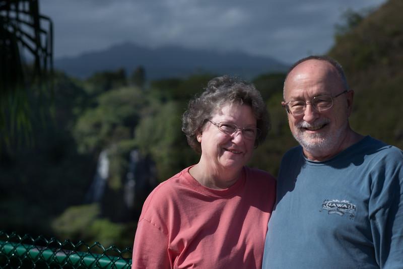 At 'Opaeka'a Falls in East Kauai