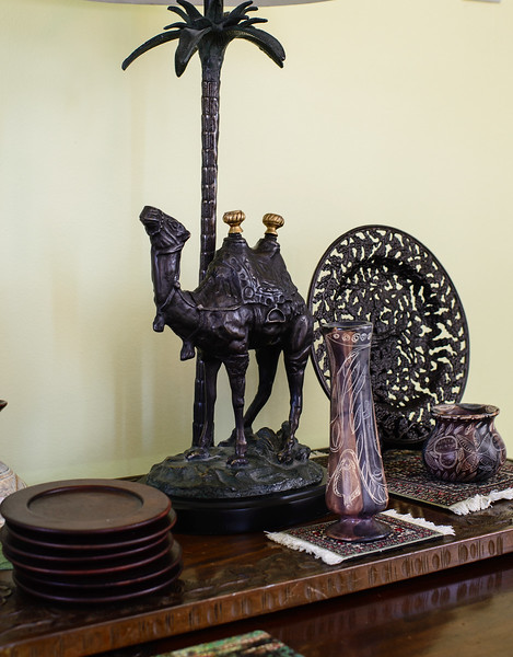 Vases from Kenya, Plate from the Ukraine ... and a Camel from Pier One
