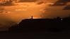 Crepuscular Rays from the Hidden Moon Light the Sky Around the Kilauea Lighthouse