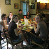 The feast: Emily, Erich, Autumne, Laura, Pam, Sheldon & Justin (hiding behind Sheldon).
