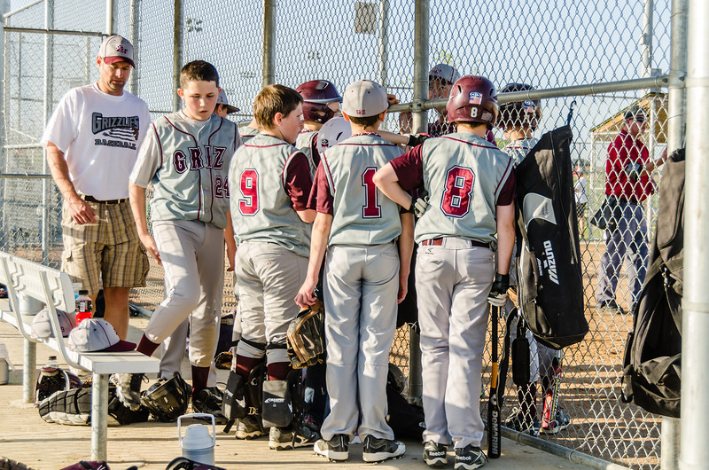 """Little League Group Huddle<br /> <br /> More photos from the ballpark here: <a href=""""http://smu.gs/J8nj5H"""">http://smu.gs/J8nj5H</a>."""