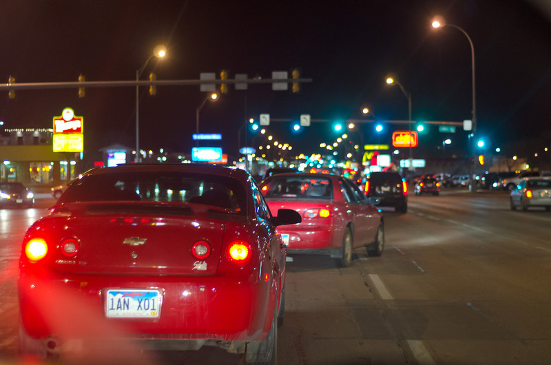 Weekend Traffic at 41st and Louise Avenue
