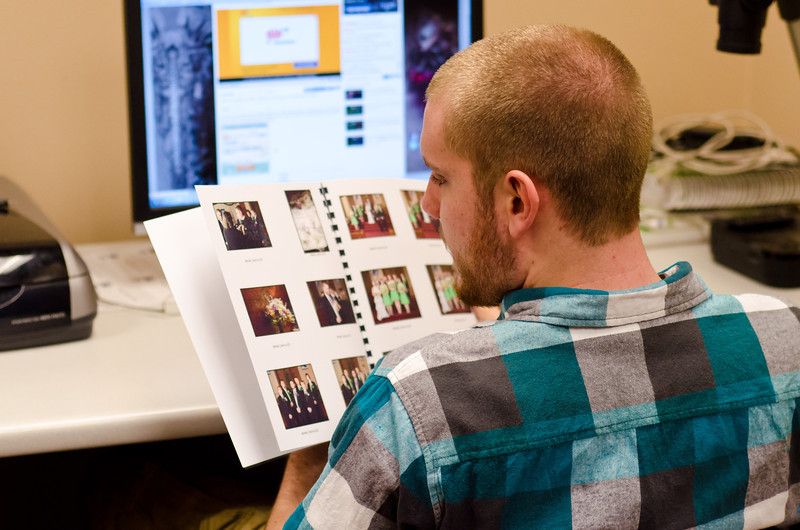 Looking Through the Wedding Photos