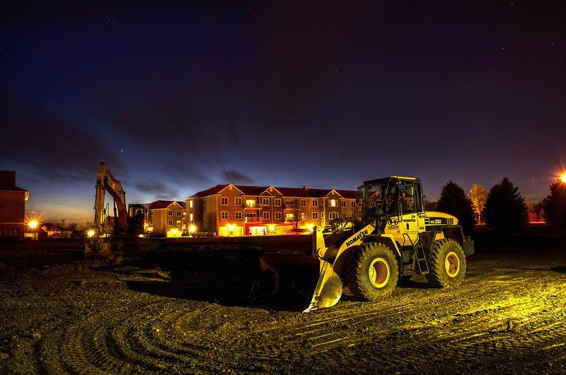 The Project Site at Night