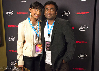 "Actress Kalista Zackhariyas and award-winning director Rohan Fernando, star and director respectively of the film ""Snow"", after their Red Carpet interviews.  ""Snow"", being shown at Cinequest Film Festival 2011, is a touching film about a Sri Lankan woman who lost everything in the great tsunami, moved to Halifax, Nova Scotia, Canada to rebuild her life. Roland's personal visits to Sri Lanka after the tsunami, along with his own life experiences, helped inspire the story behind the film. Kalista's life experiences helped inspire her to play the starring role with deep conviction and sincere emotion."