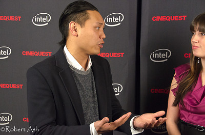 """Jon Chu, film director, screenwriter and cinematographer during Red Carpet interview. Jon was chosen to present the Maverick Award to Alyson Stoner.  Jon directed """"Step-Up 2"""", """"Step-Up 3-D"""", """"Justin Bieber: Never Say Never"""", """"G.I. Joe 2"""" and other films, and was the screenwriter for his first two films, """"Silent Beats"""" and """"When the Kids are Away""""."""