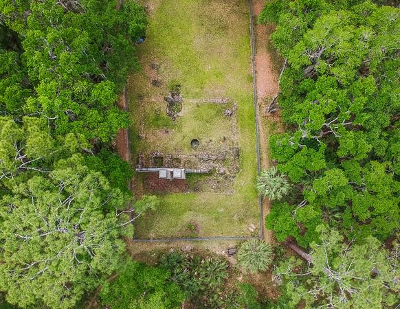 Aerial photograph of the Dummett Sugar Mill  Ruins -  Ormond Beach, FL