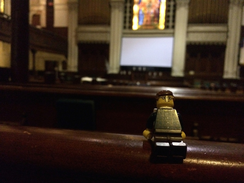 Snuck into church to share a moment of solitude.