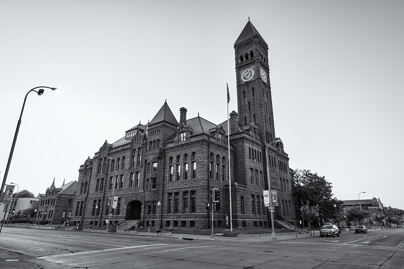 Old Courthouse Museum in Black and White