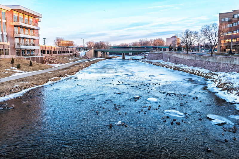 Big Sioux River, Downtown Sioux Falls