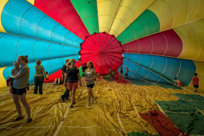 Inside a Big Balloon