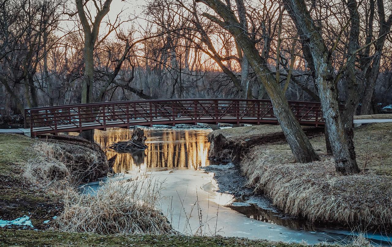 Bike Path Bridge over the Creek