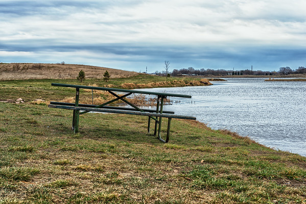 A Park Bench in One Wide Open Space