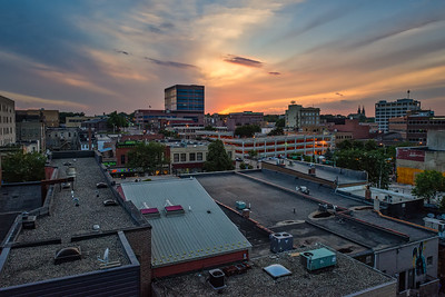 Sunset in Downtown Sioux Falls