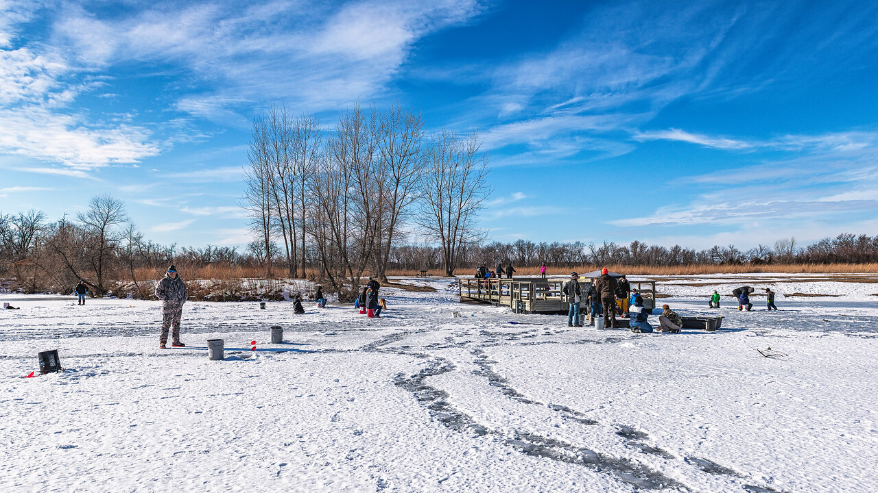 A Nice Day for Ice Fishing