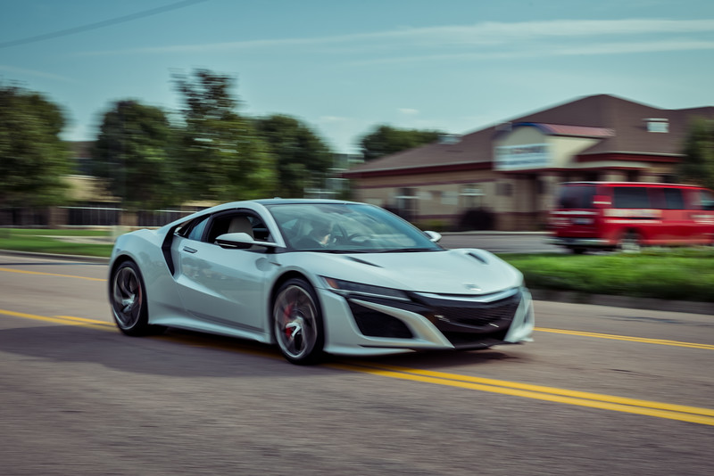 Acura NSX on the Move