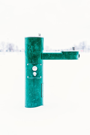 Green Drinking Fountain