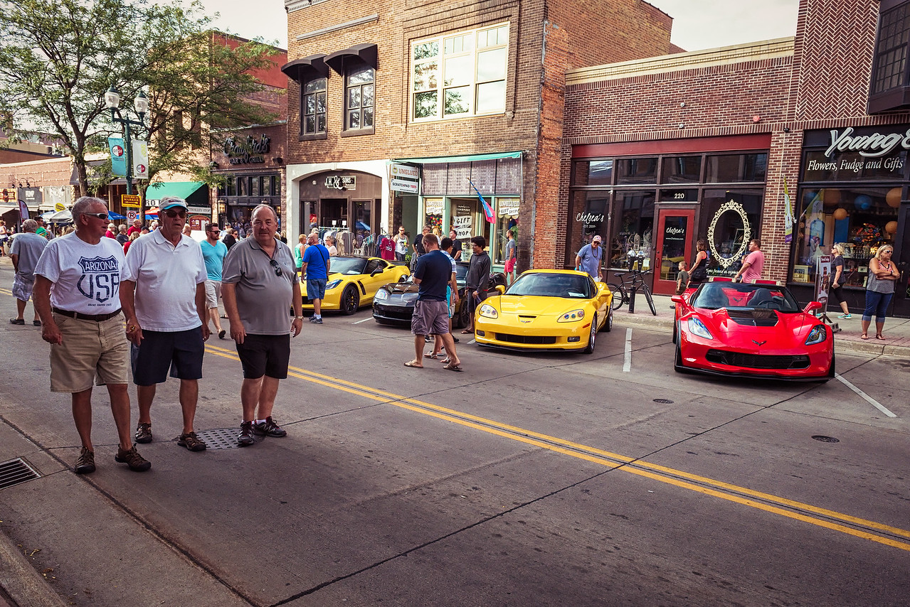 People Came to See Corvettes