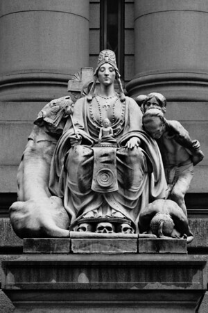 Statue of Asia<br /> <br /> This statue, one of the four at the Customs House, depicts the continent of Asia. US Customs House.