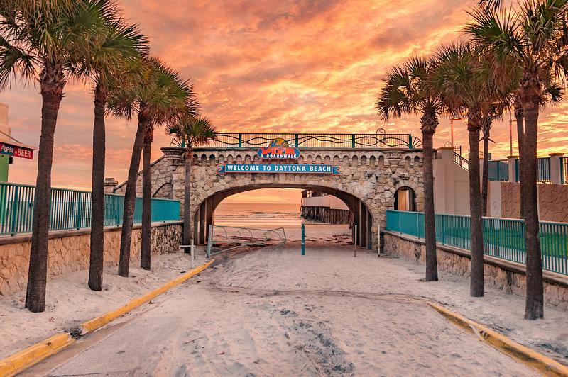 Daytona Beach Boardwalk beach ramp overpass- Daytona Beach, FL