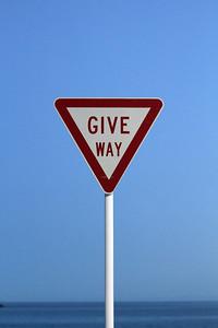 Give way!